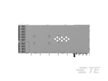 TE Connectivity , SFP56 20 Way 8 Port Female zSFP+ Cage Assembly 0.6mm Pitch Press-Fit Termination With Light Pipe (12)