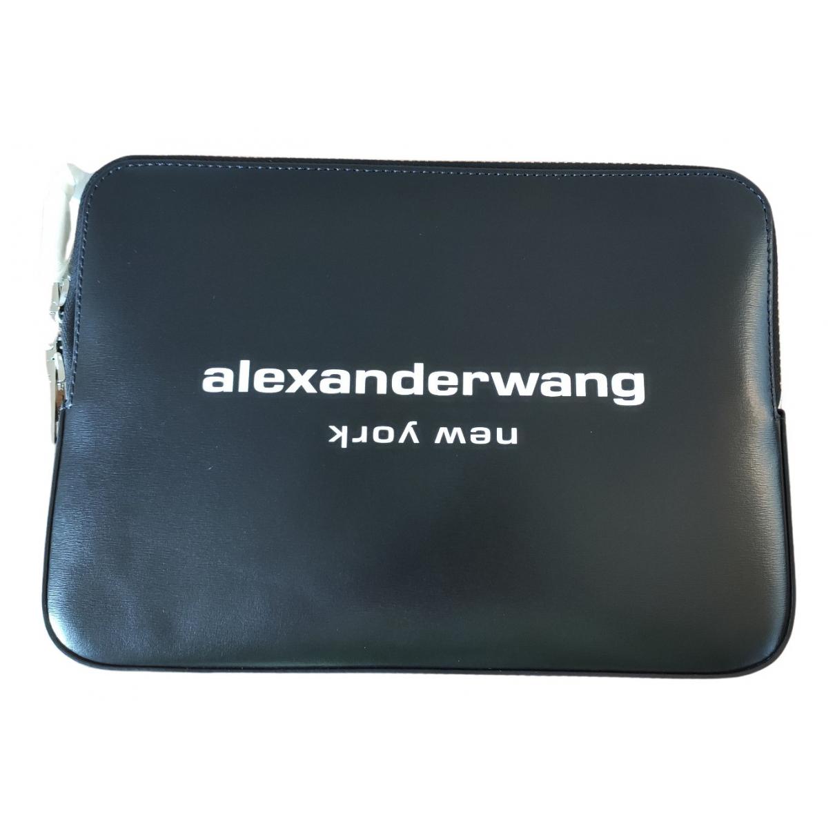 Alexander Wang \N Clutch in  Schwarz Leder