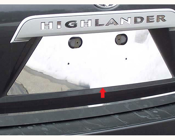Quality Automotive Accessories 1-Piece License Plate Bezel Toyota Highlander 2010