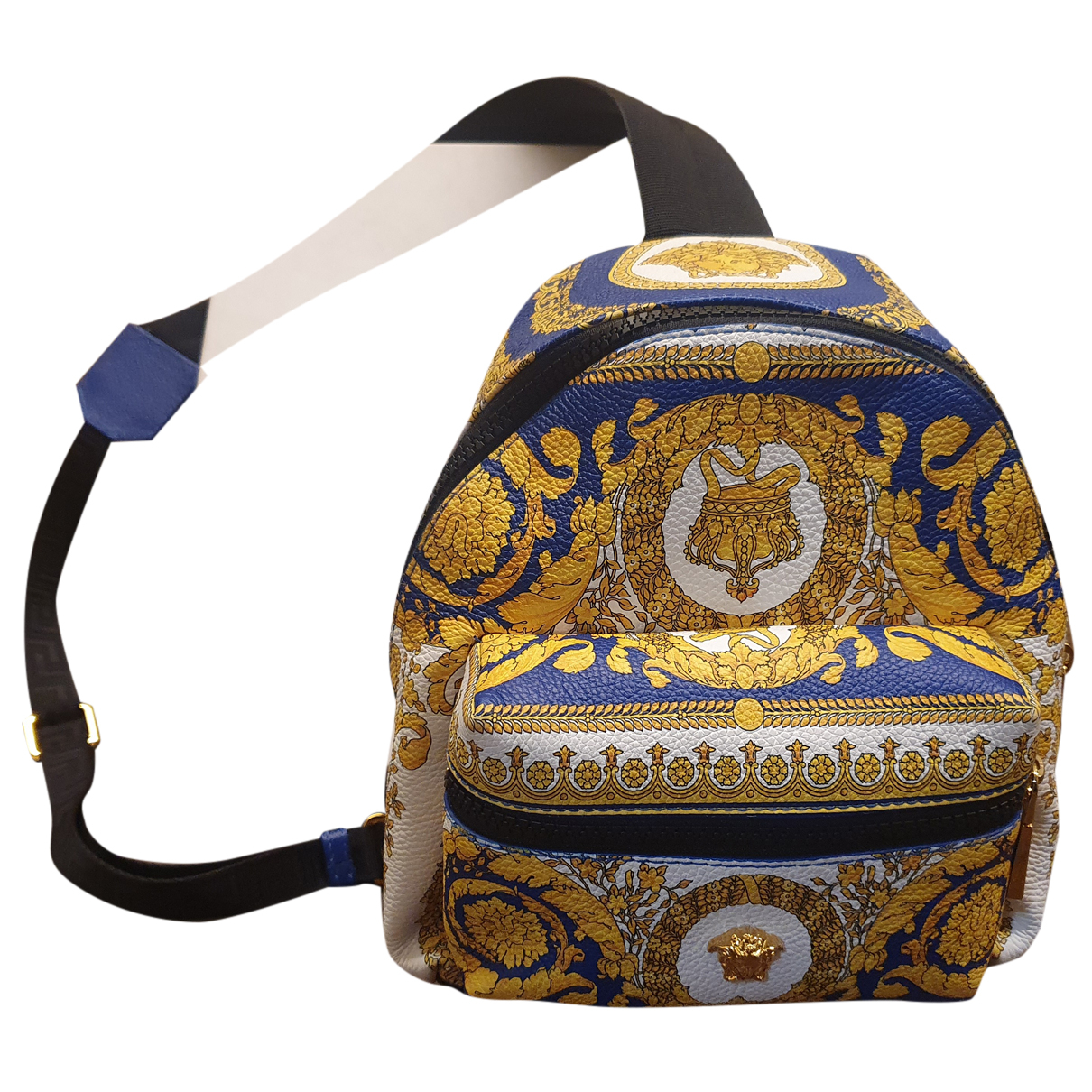 Versace N Blue Leather backpack for Women N