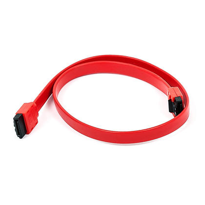 18inch SATA 6Gbps Cable w/Locking Latch - (4 colours) - Monoprice - Red