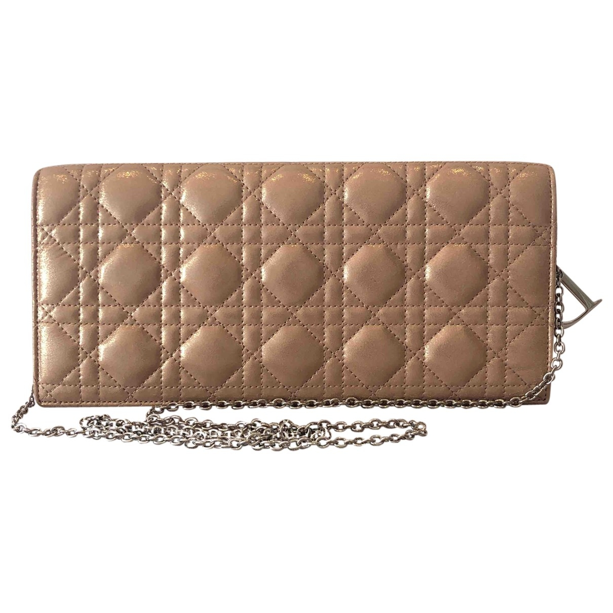 Dior \N Clutch in  Gold Lackleder