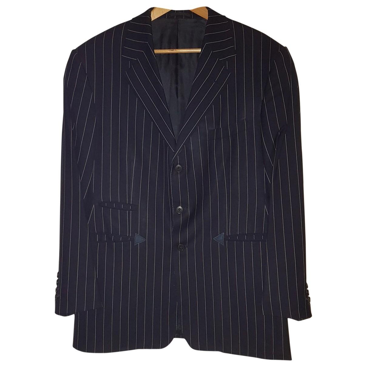 Ralph Lauren Purple Label \N Jacke in  Marine Wolle