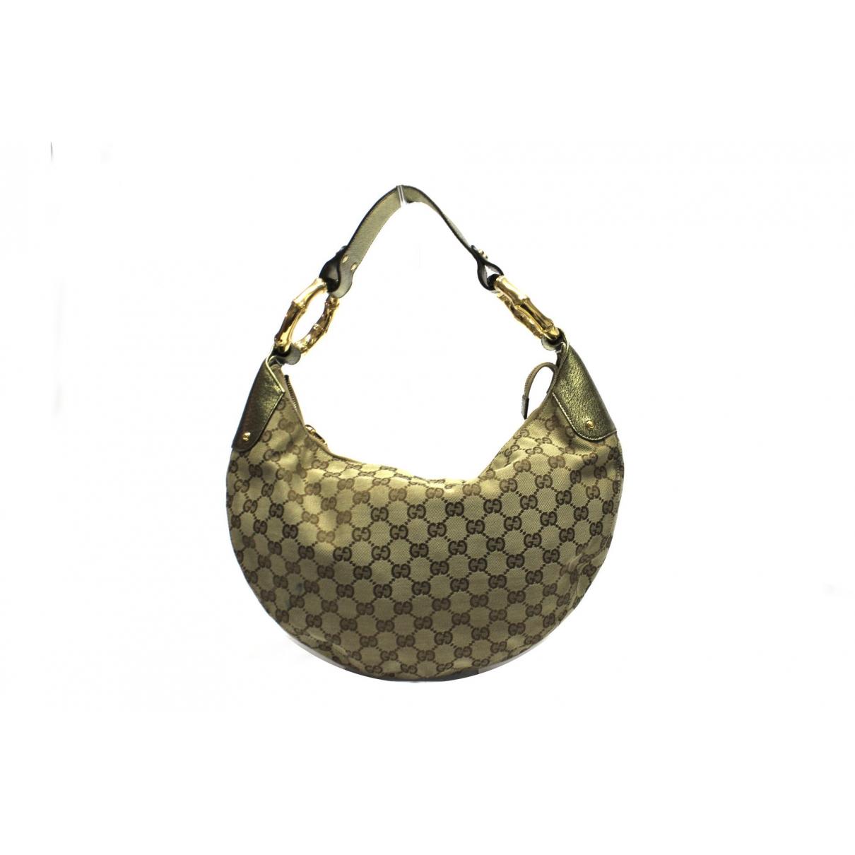 Gucci Hobo Handtasche in  Beige Leinen
