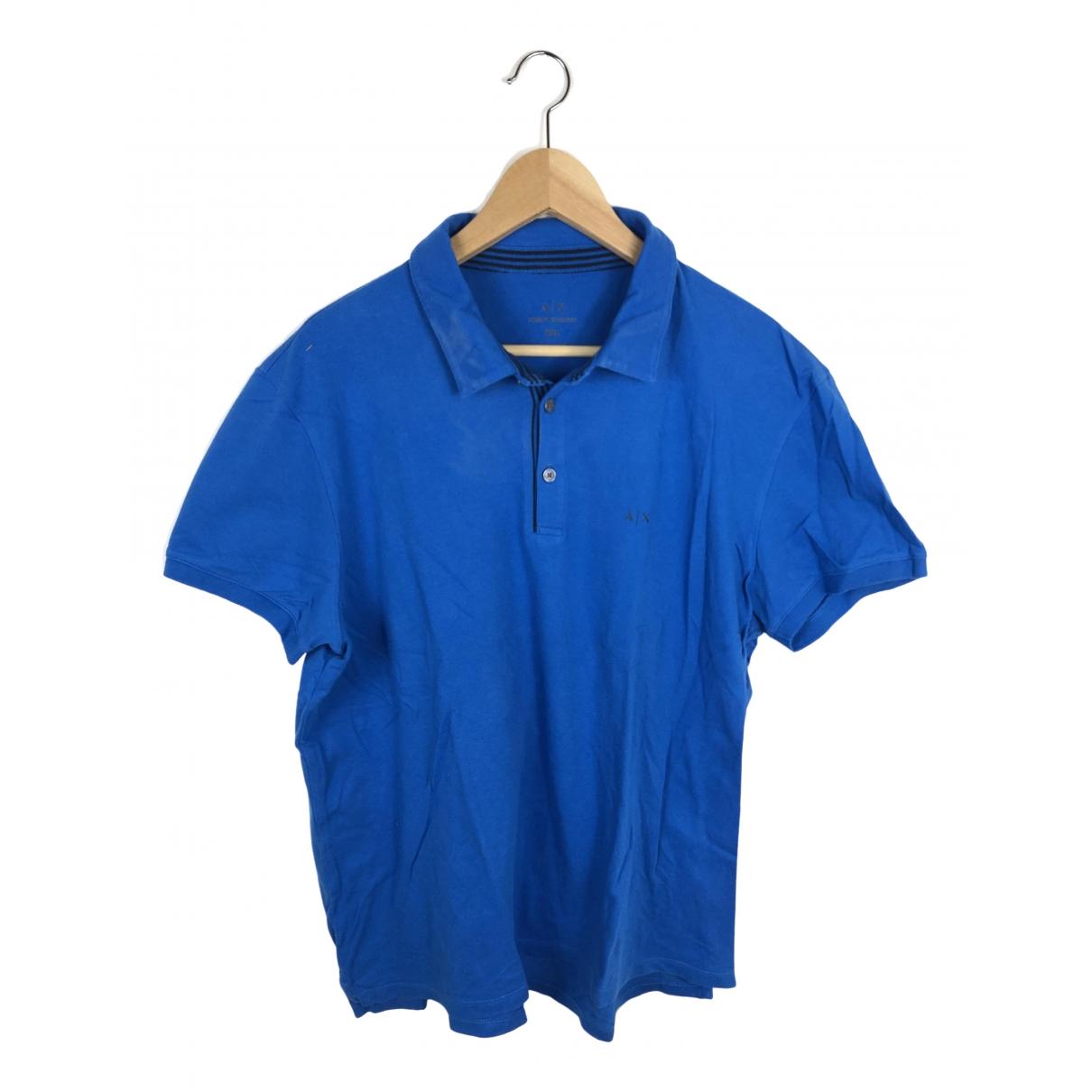 Emporio Armani \N Poloshirts in  Blau Baumwolle