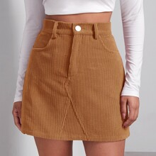 Solid Cord Skirt