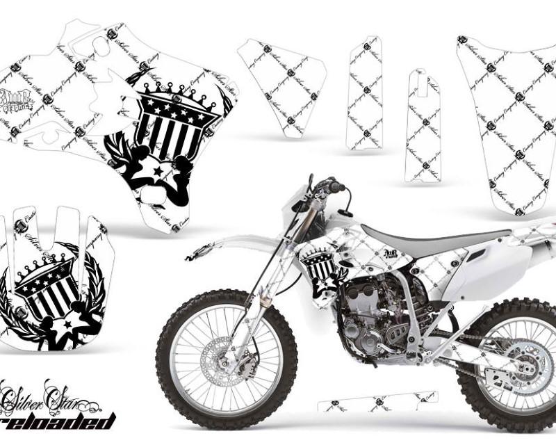 AMR Racing Dirt Bike Graphics Kit Decal Wrap For Yamaha YZ250F YZ450F 2003-2005áRELOADED BLACK WHITE