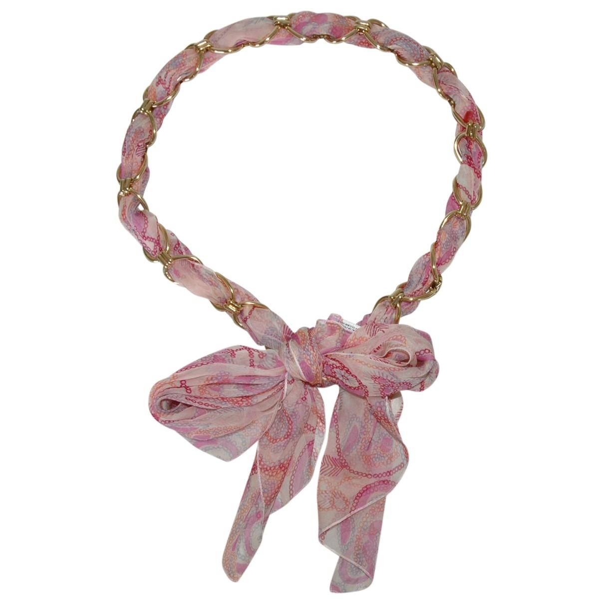 Dior \N Pink Silk belt for Women 90 cm