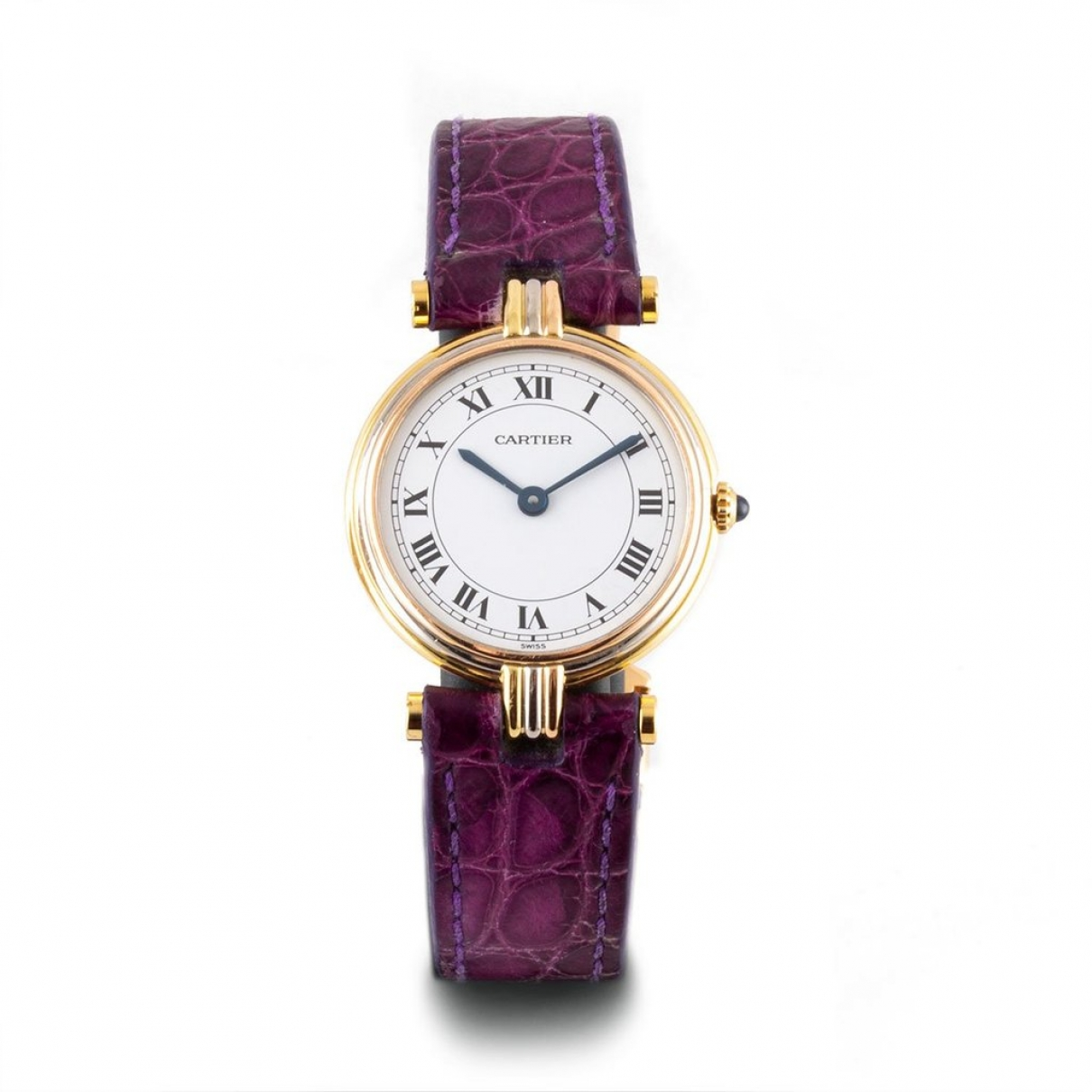 Cartier Must Vendôme  White Yellow gold watch for Women \N