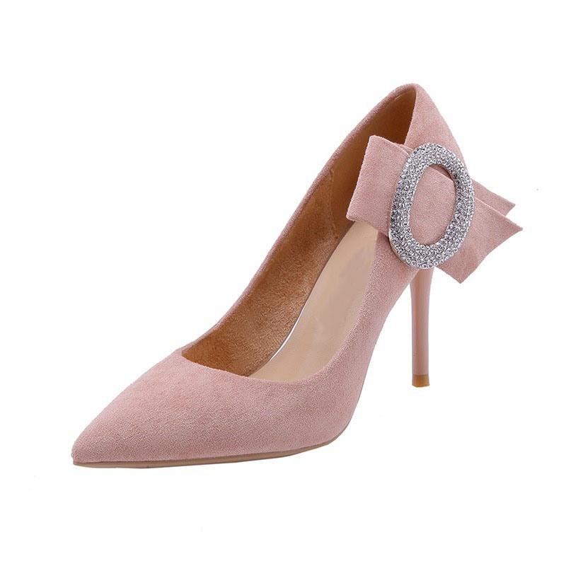 Ericdress Rhinestone Stiletto Heel Slip-On Pumps