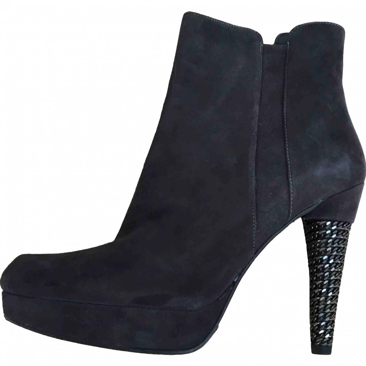 Stuart Weitzman \N Grey Suede Ankle boots for Women 37 EU