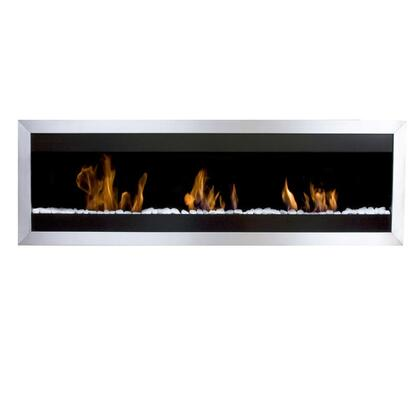 BB-SQXL2 Extra Large Square II Bio Ethanol Burning Fireplace with 3 Adjustable Bloc Burners  18425 BTU Heat Capacity  Hanging System  Marble Stones