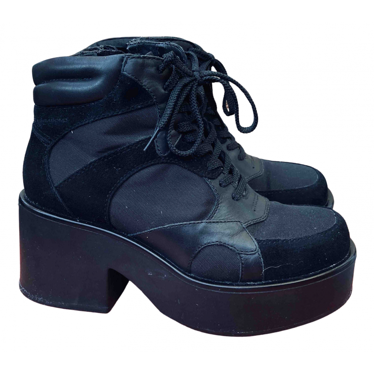 Vagabond N Black Leather Lace ups for Women 36 EU