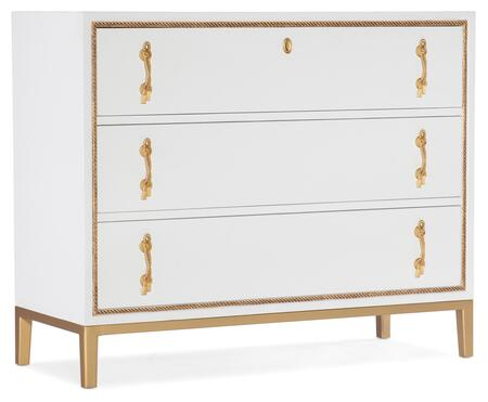 638-85542-02 Melange Calhoun Three-Drawer Chest  in Whites and Creams and