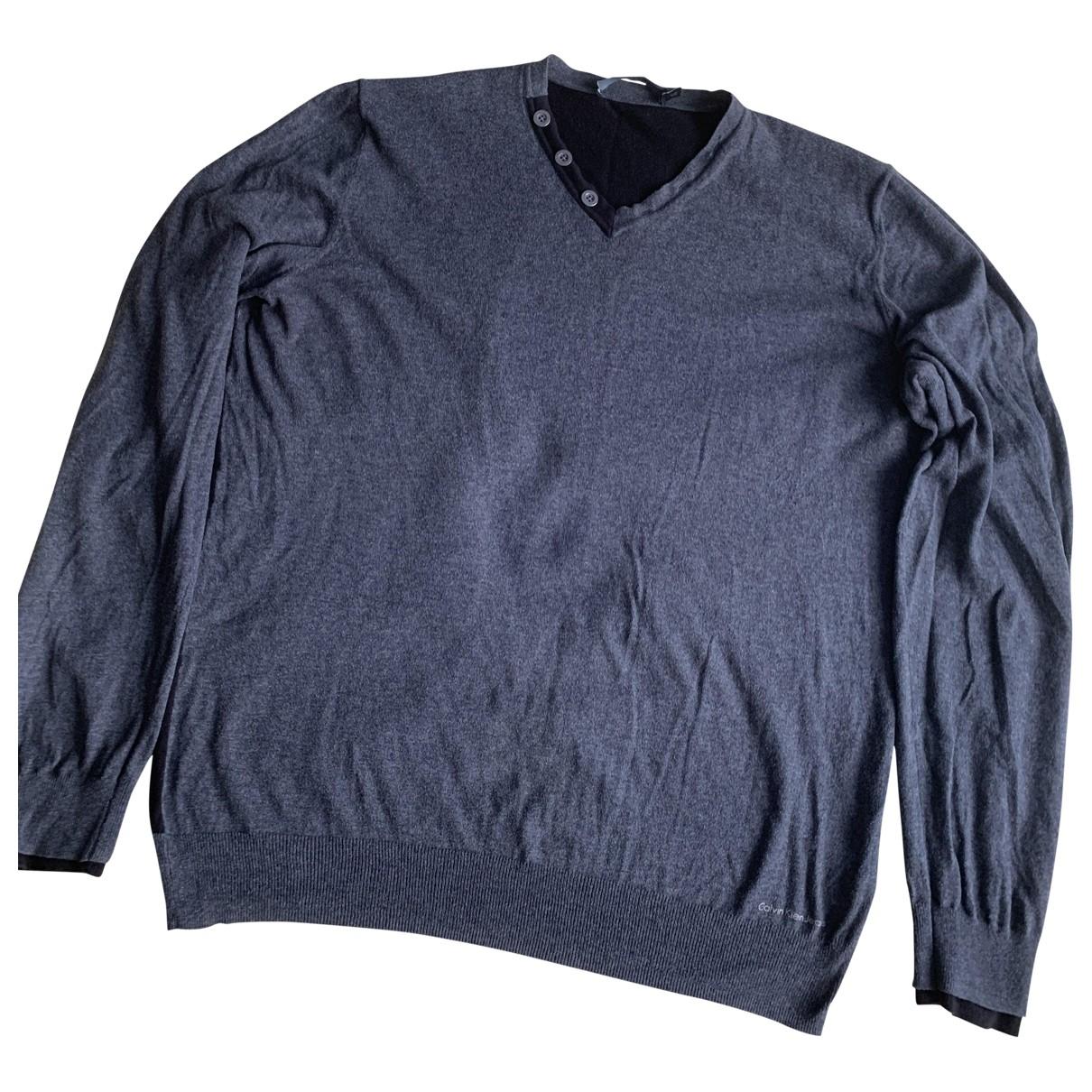 Calvin Klein N Grey Cotton Knitwear & Sweatshirts for Men XXXL International