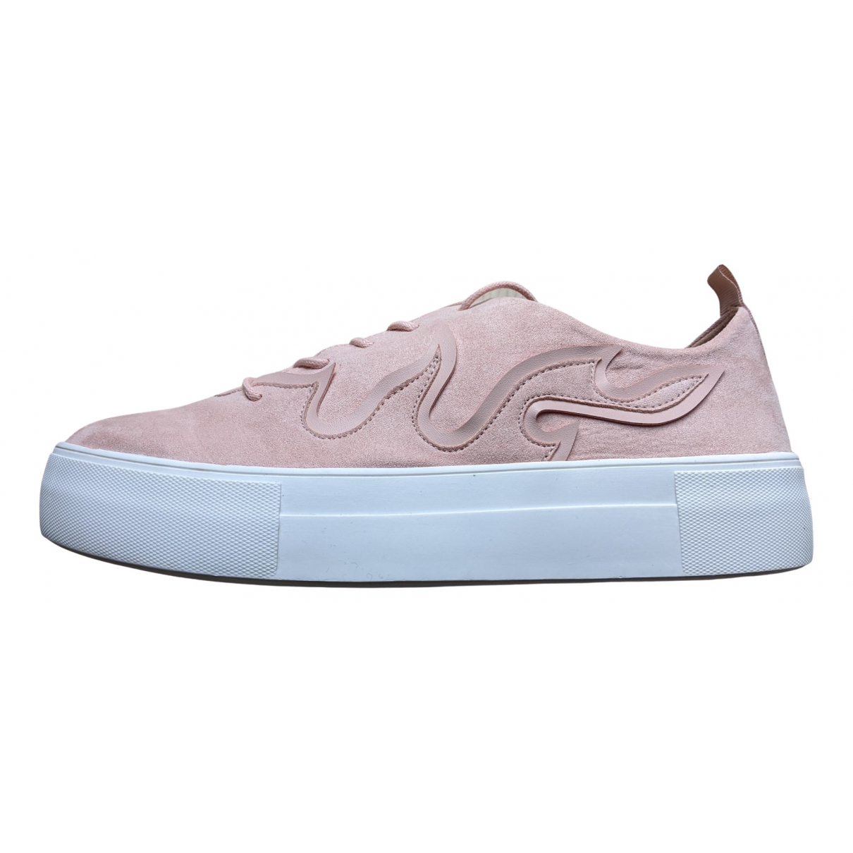 Bianco \N Sneakers in  Rosa Polyester