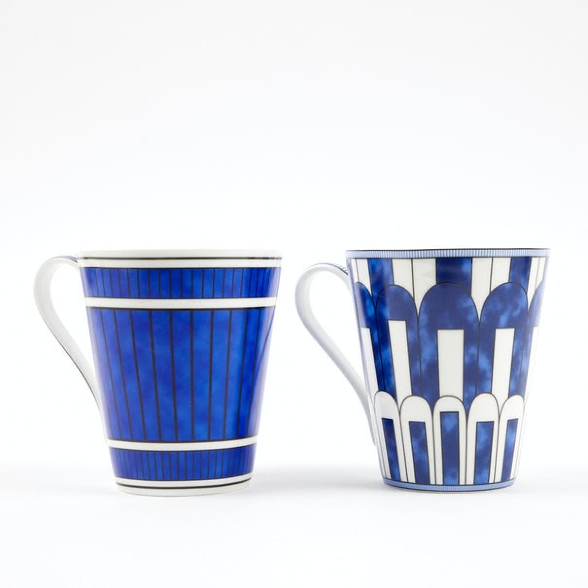 Hermes - Arts de la table Bleus dailleurs pour lifestyle en porcelaine - bleu