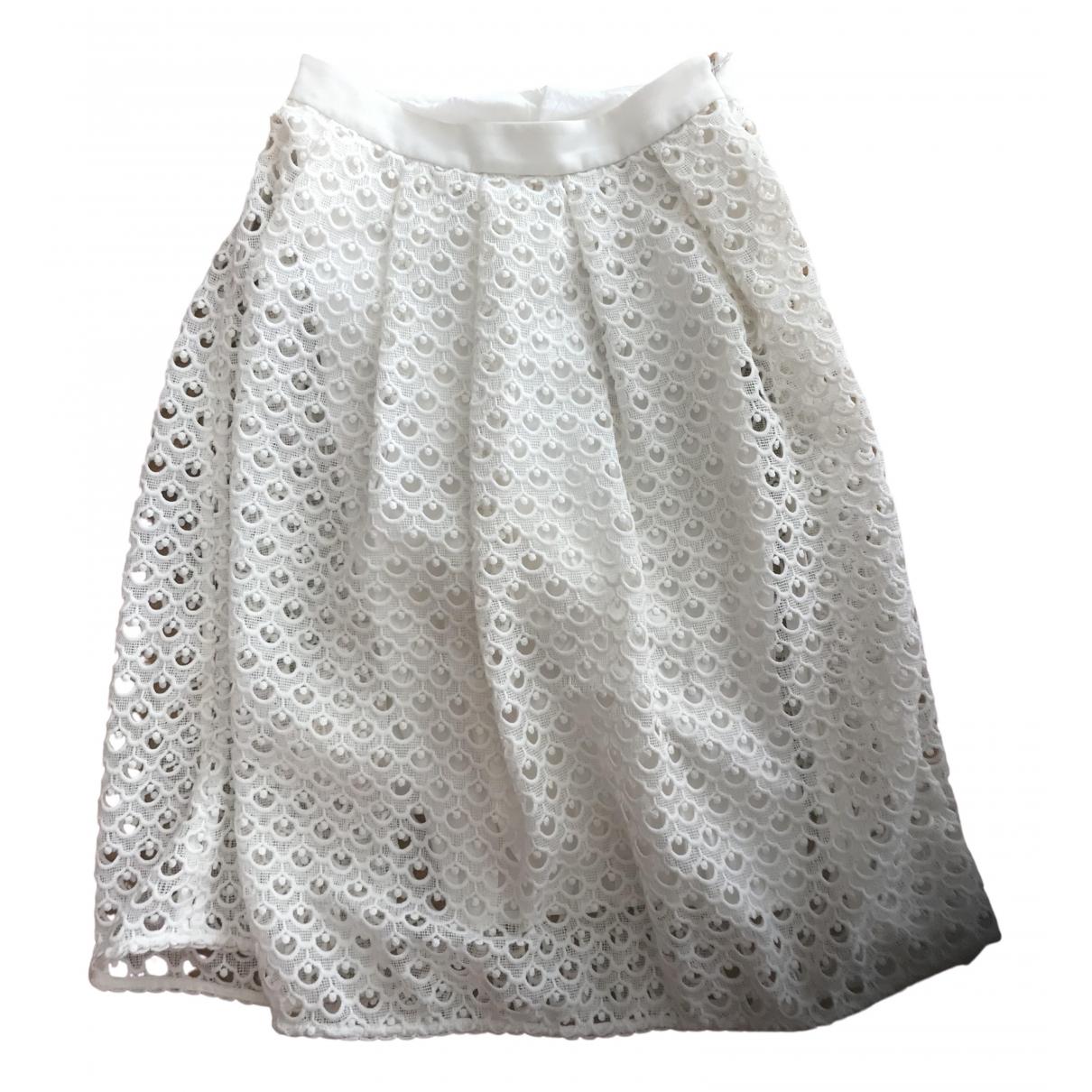 Claudie Pierlot - Jupe   pour femme en coton - blanc