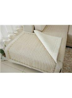 Beige Top Grade Slip Resistant Quilting Seam Washable Decorative Sofa Covers