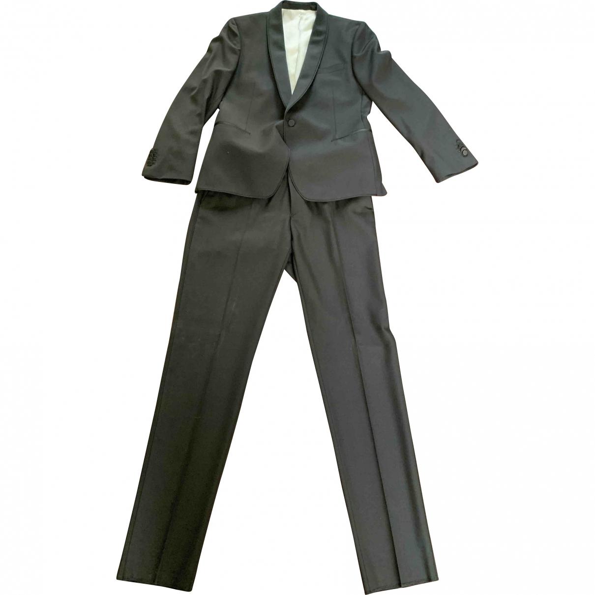 De Fursac - Costumes   pour homme en laine - noir