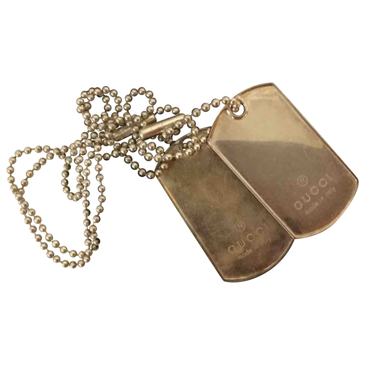 Gucci Dog Tag Anhaenger in  Silber Silber