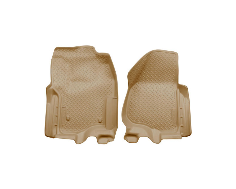 Husky Liners 33863 Front Floor Liners   Classic Style Series Tan Ford F-450 Super Duty Supercab Pickup 13-15