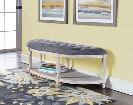D1106S17 Naomi Collection Demilune Bench in