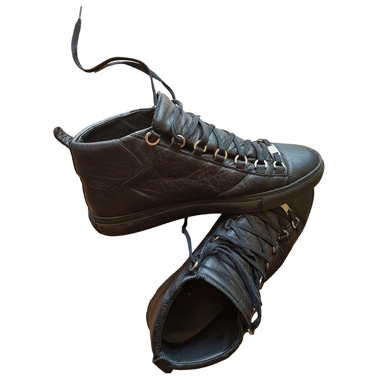 Balenciaga Arena Black Leather Trainers for Men 43 EU