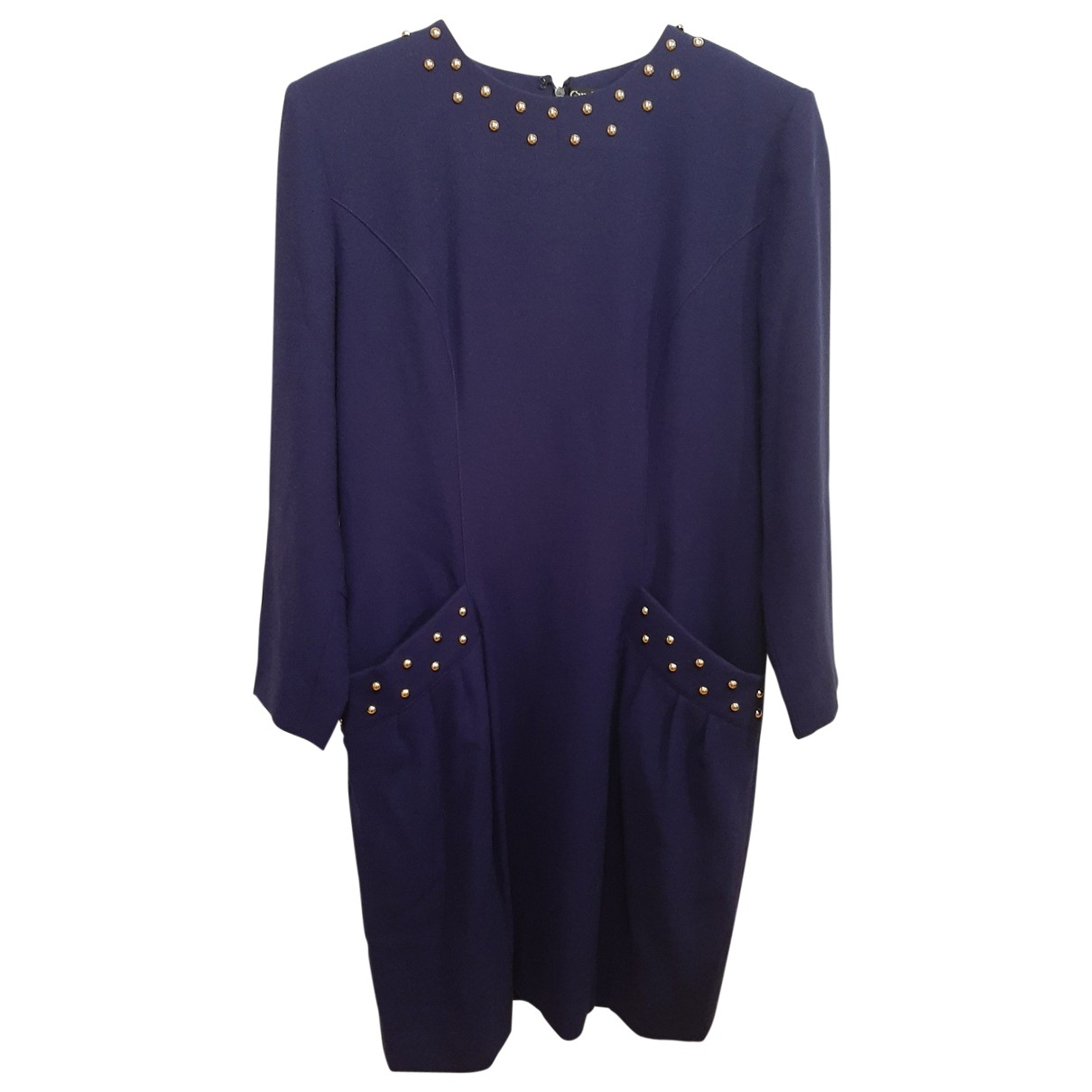 Guy Laroche \N Purple Wool dress for Women 42 FR