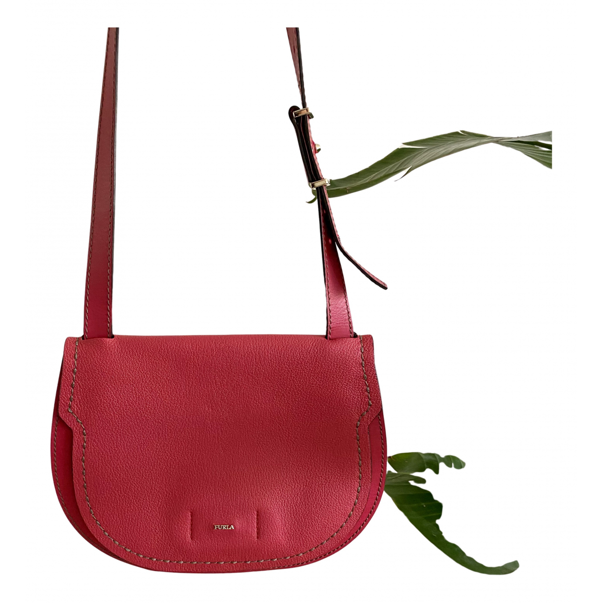Furla N Red Leather handbag for Women N