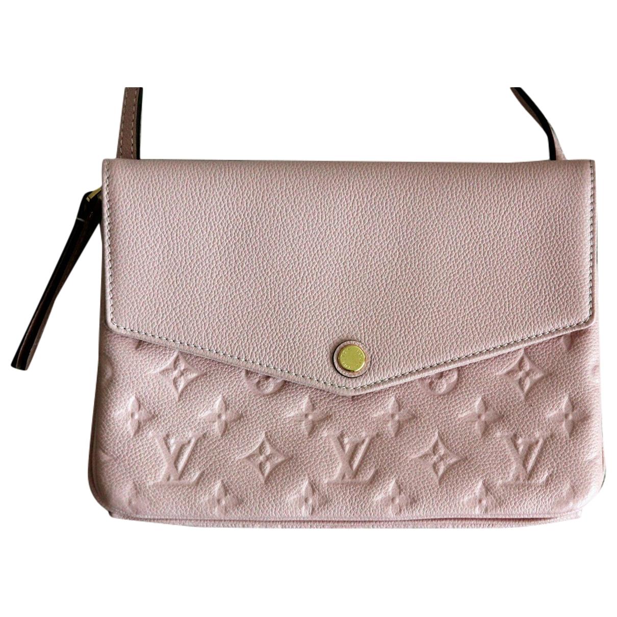 Louis Vuitton Twice Pink Leather handbag for Women \N