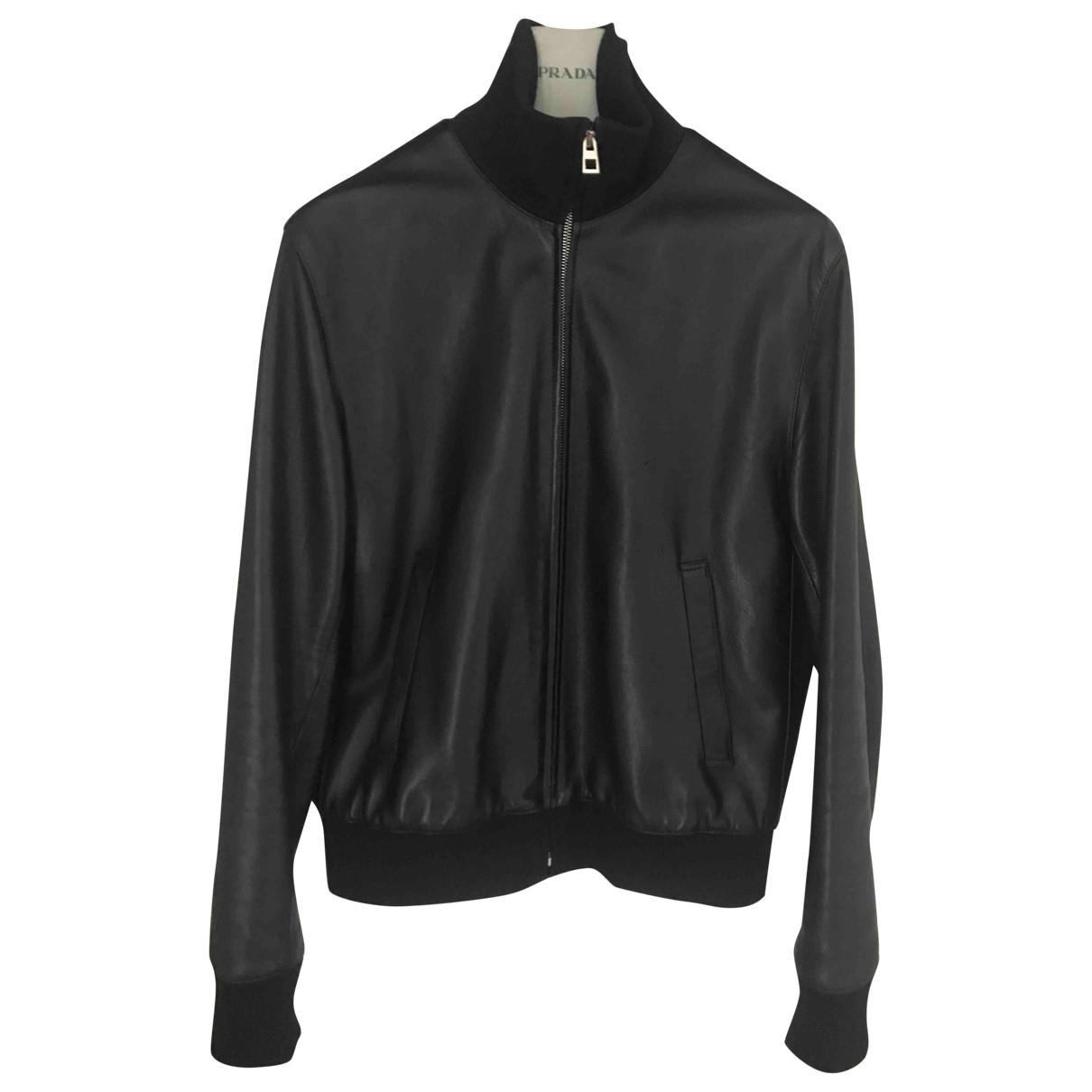 Loewe \N Black Leather jacket  for Men 46 FR