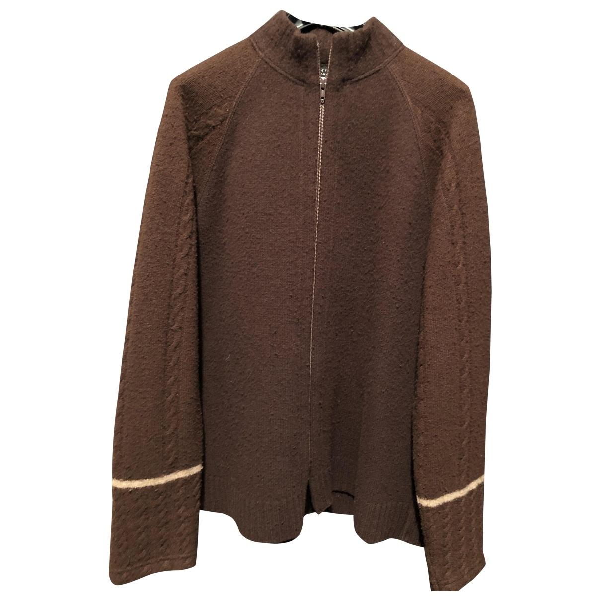 Yohji Yamamoto \N Pullover.Westen.Sweatshirts  in  Braun Wolle