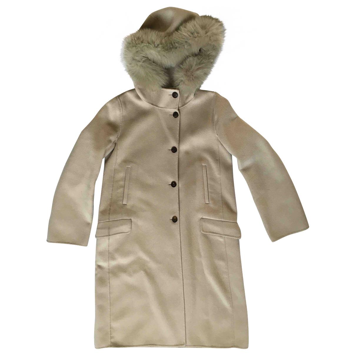 Max Mara 's N Beige Wool coat for Women 42 IT