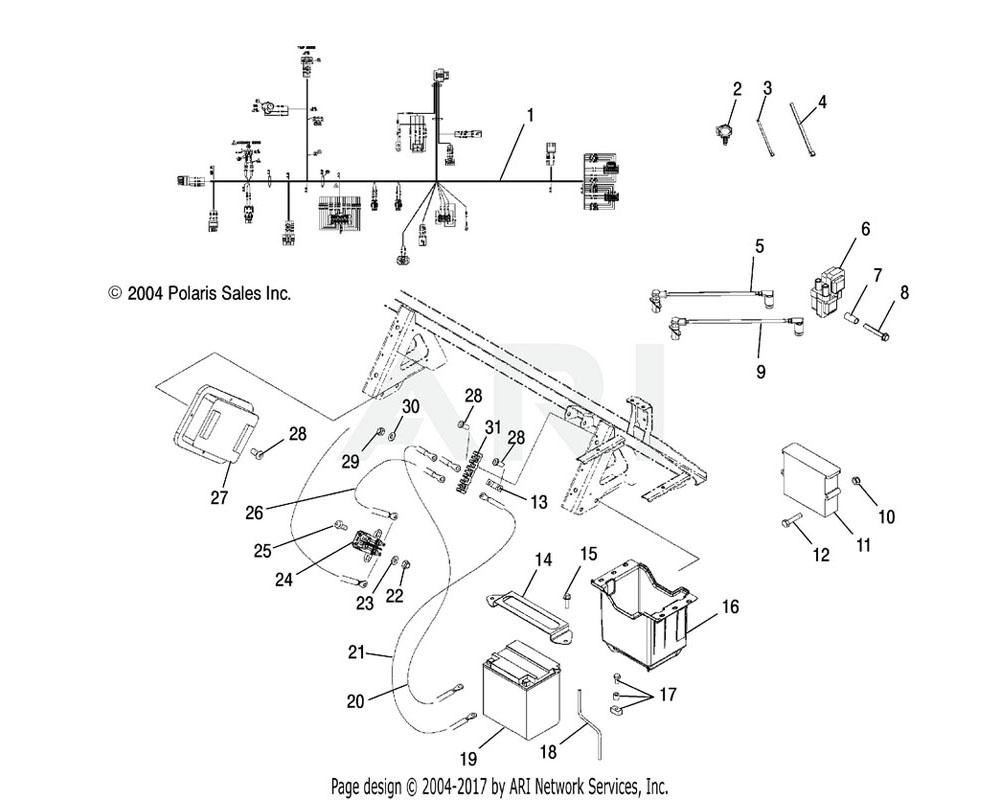 Polaris OEM 5248374 Bracket, Battery Strap