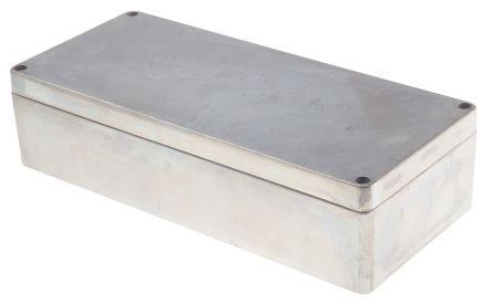RS PRO Unpainted Die Cast Aluminium Enclosure, IP66, 360 x 160 x 90mm
