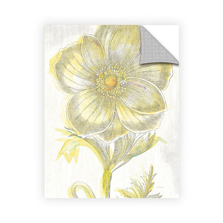 Brushstone Belle Fleur Yellow II Crop Removable Wall Decal, One Size , White
