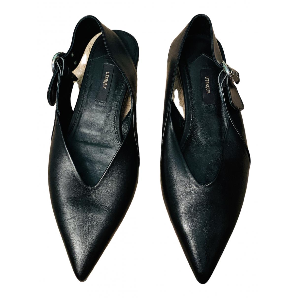 Uterque N Black Fur Ballet flats for Women 38 EU