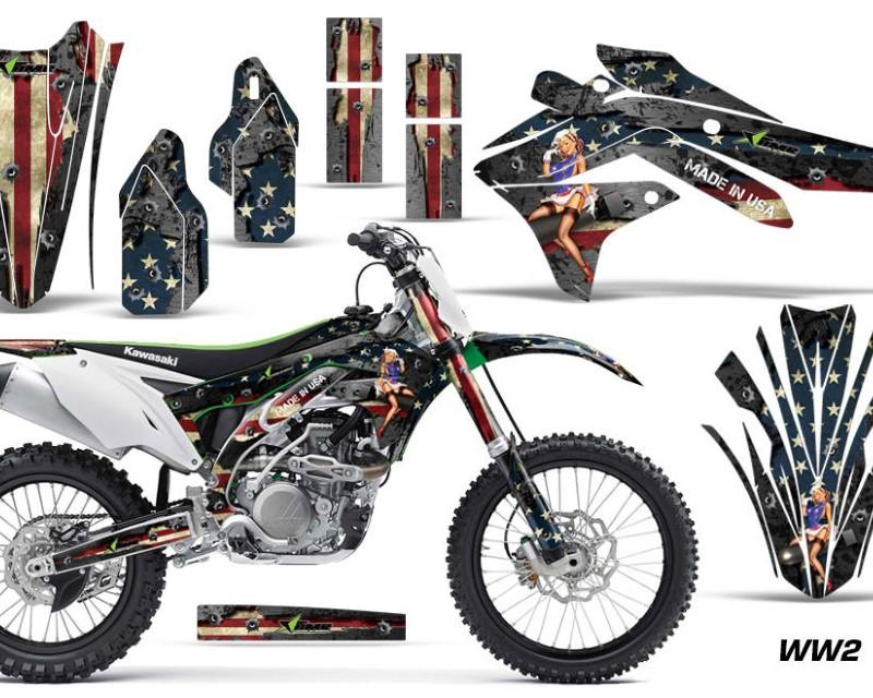 AMR Racing Dirt Bike Decal Graphic Kit Sticker Wrap For Kawasaki KXF450 2016-2018 WW2 BOMBER