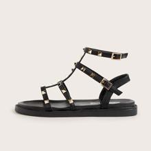 Spiked Decor Gladiator Sandals