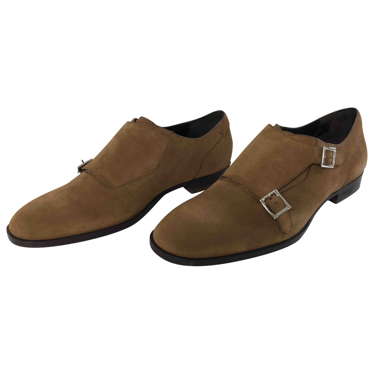 Jimmy Choo - Derbies   pour homme en suede - marron