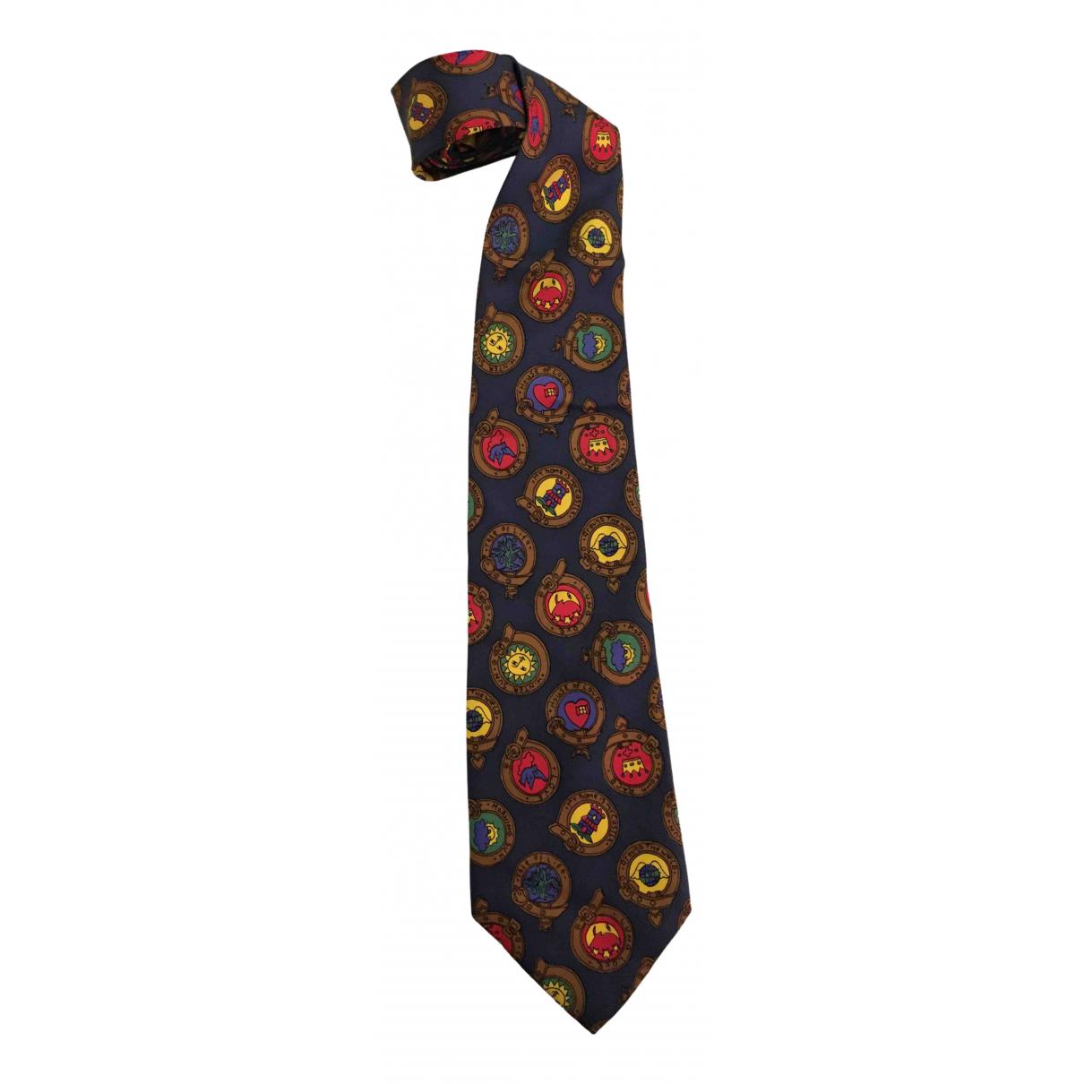 Jc De Castelbajac - Cravates   pour homme en soie - bleu