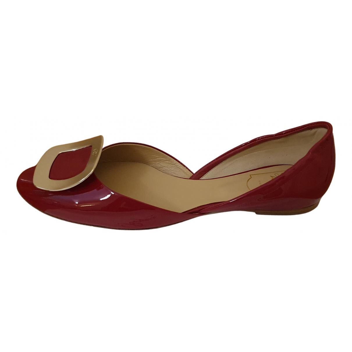 Roger Vivier - Ballerines   pour femme en cuir verni - rouge