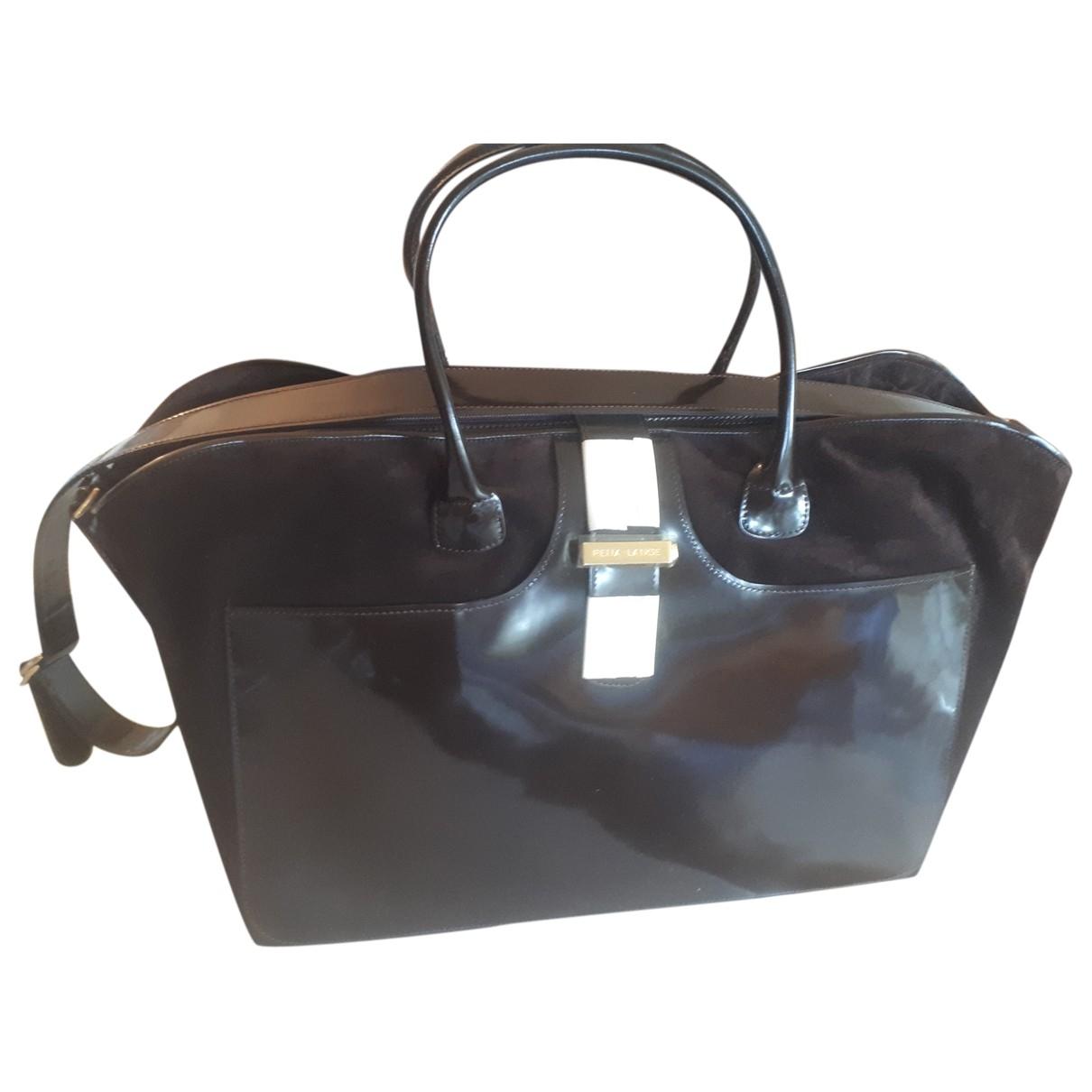 Rena Lange \N Brown Patent leather Travel bag for Women \N