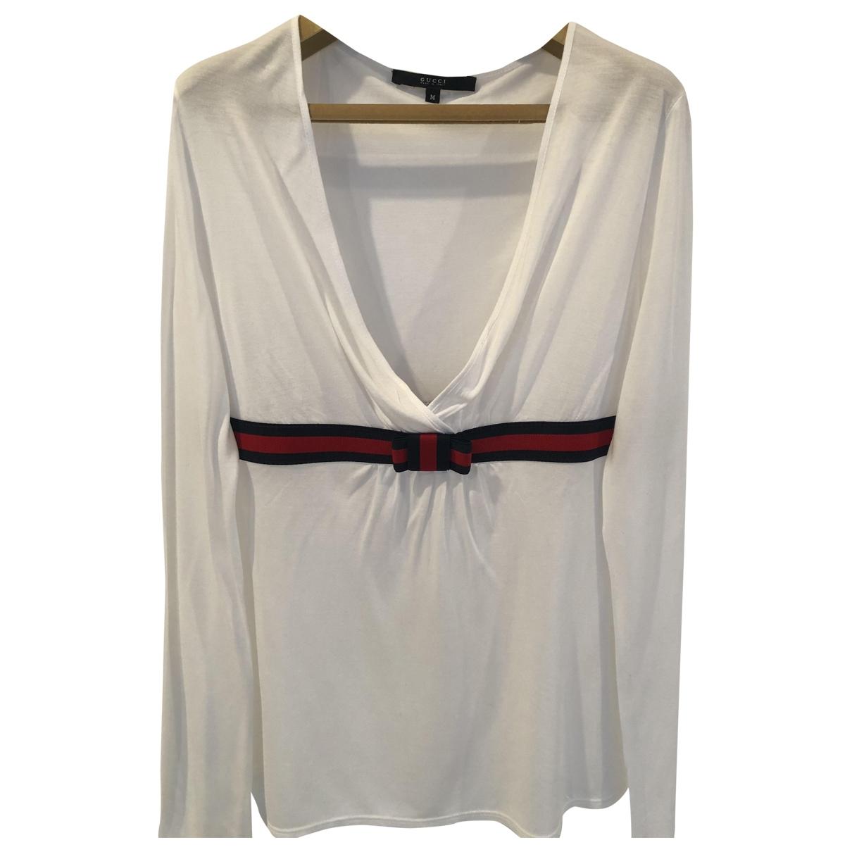 Gucci \N White Cotton  top for Women M International