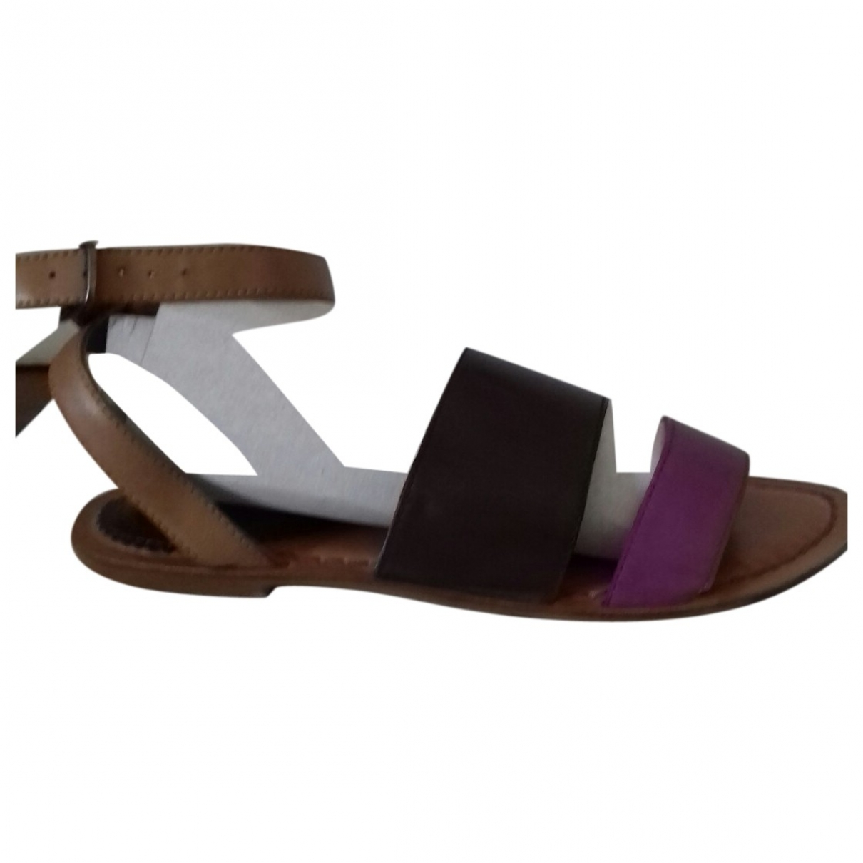 Non Signé / Unsigned \N Brown Leather Sandals for Women 6 UK