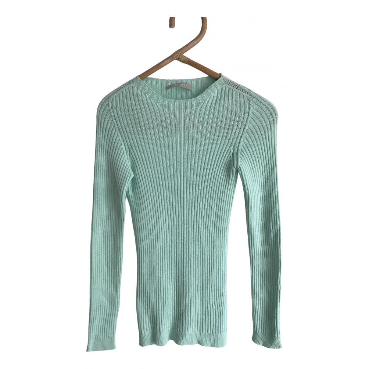 Stefanel - Pull   pour femme en coton - turquoise