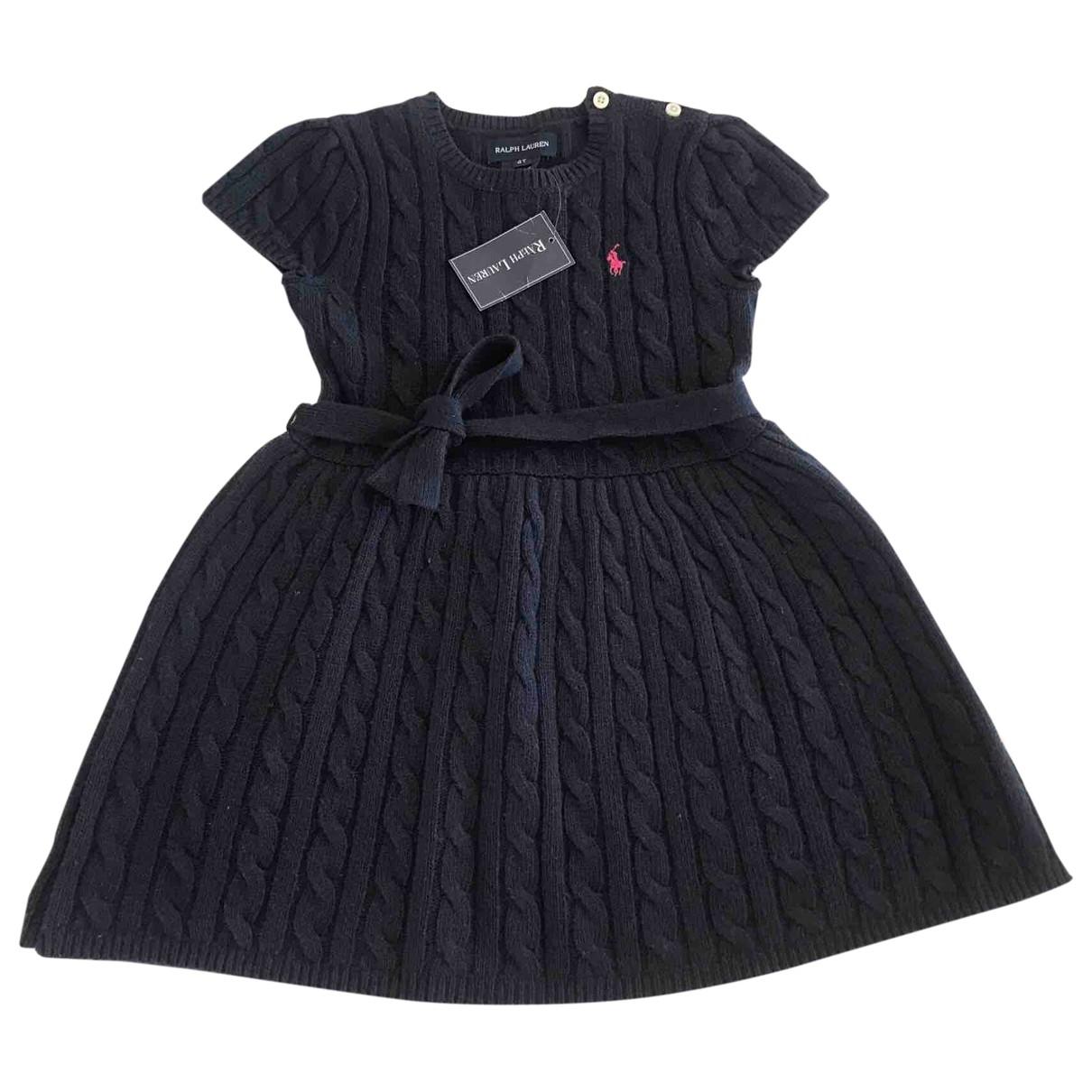 Ralph Lauren - Robe    pour enfant en laine - marine