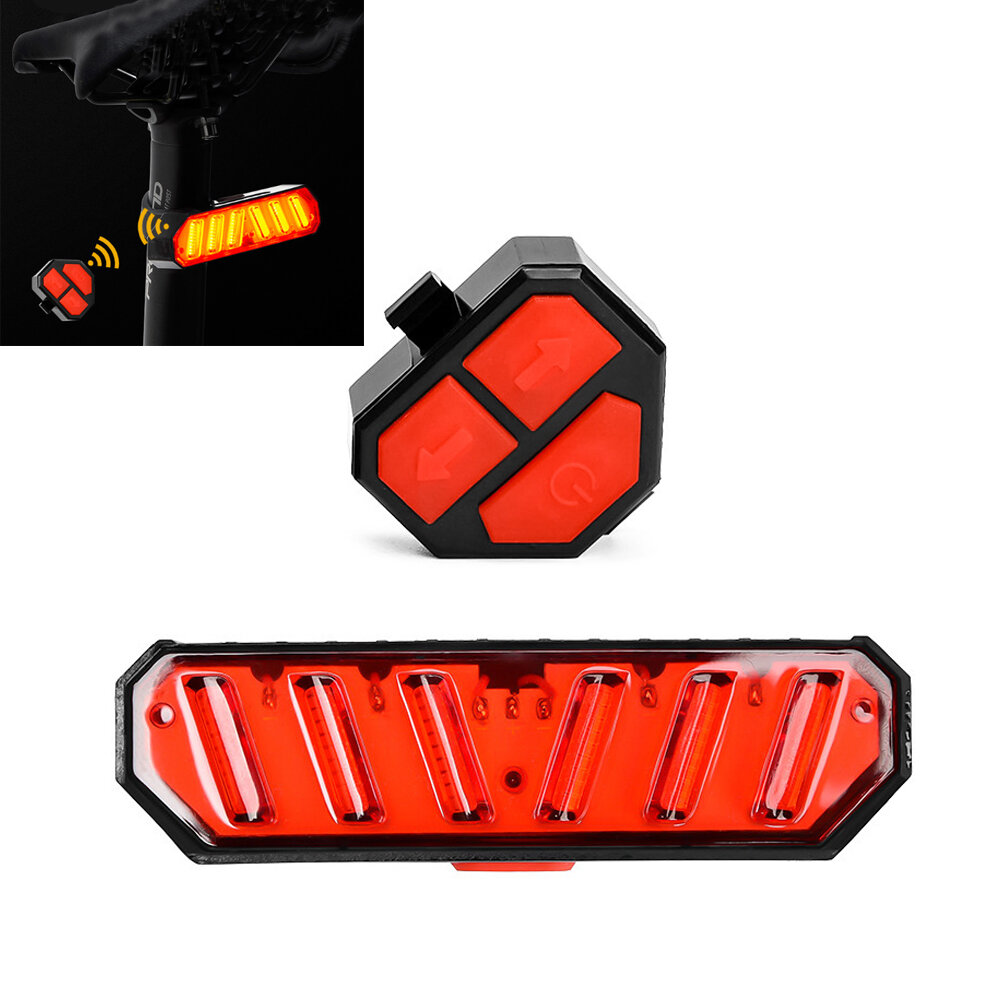 PROMEND ET-15133 Smart Steering Bike Bicycle Rear Light Rechargeable Warning Safety Cycling Motorcycle