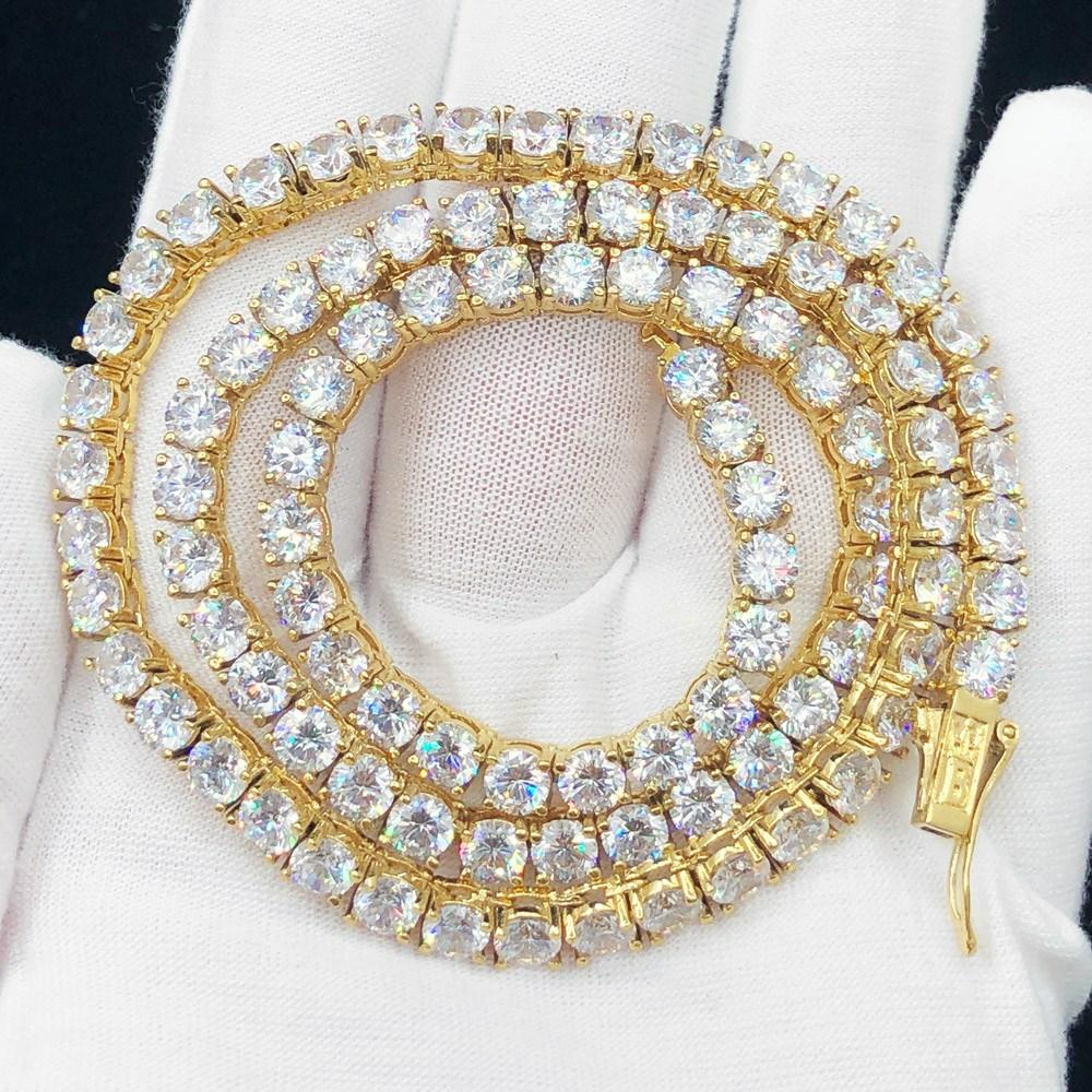 5MM Hip Hop Bling VVS Iced Out Tennis Chain